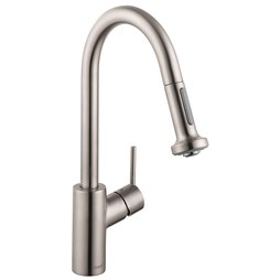 Hansgrohe 14877801 Talis S Single Handle Pull Down Kitchen Faucet