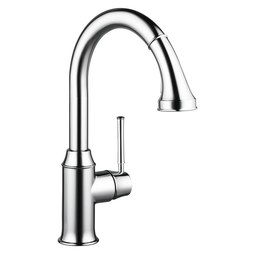 Hansgrohe 04215000 Talis C Single Handle Pull Down Kitchen Faucet with Dual Spray