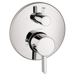 Hansgrohe 04231000 Ecostat S Thermostatic Trim Kit with Dual Outlet Volume Control and Diverter