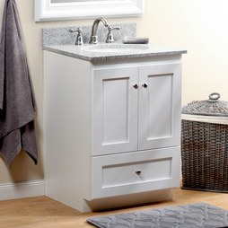 Strasser 01.164.2 Simplicity 24IN Satin White Vanity Cabinet Only