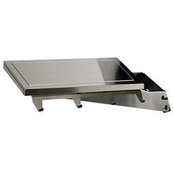 Broilmaster DPA153 Stainless Steel Drop-Down Side Shelf with Bracket for Gas Grills