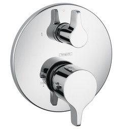 Hansgrohe 04352000 Ecostat S/E Thermostatic Valve Trim with Volume Control