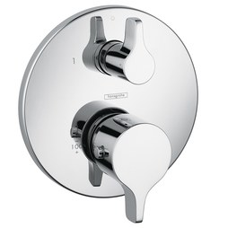 Hansgrohe 04353000 Ecostat S/E Thermostatic Valve Trim with Volume Control/Diverter