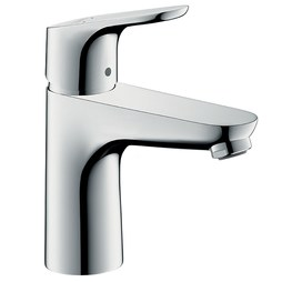 Hansgrohe 04371000 Focus E 100 Single Handle Single Hole Bathroom Faucet with Pop-Up Drain