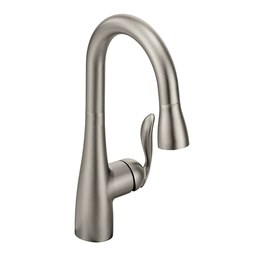 Moen 7594SRS Arbor Single Handle High Arc Pull Down Kitchen Faucet