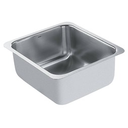 "Moen G18443 1800 Series 16"" Single Bowl Stainless Steel Undermount Kitchen Sink"