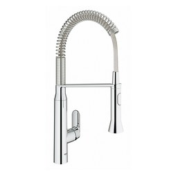 Grohe 31380000 K7 Professional Single Handle Pull Down Kitchen Faucet