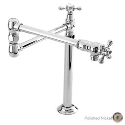 Newport Brass 9483/15 Chesterfield Two Handle Deck-Mount Pot Filler with Cross Handles