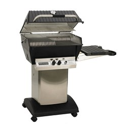 Broilmaster P3PK5 P3X Series Premium Propane Gas Grill Package 5 with Stainless Steel Cart/Side Shelf