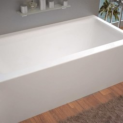 "Atlantis 3260SHAL Soho 32x60x20"" Rectangular Front Skirted Air Massage Bathtub with Left Drain"