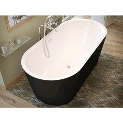 "Atlantis 3263VY Valley 32x63x23"" Oval 1-Piece Freestanding Soaking Bathtub with Center Drain"