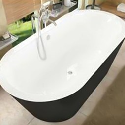 "Atlantis 3270VY Valley 32x70x23"" Oval 1-Piece Freestanding Soaking Bathtub with Center Drain"