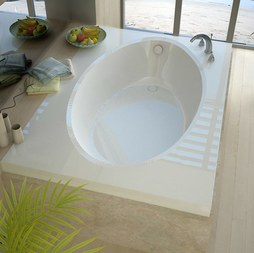 "Atlantis 4260V Vogue 42""W x 60""L Rectangular Drop-In Soaking Bathtub with Reversible Drain"