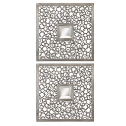 Uttermost 07622 Colusa Squares Silver Mirror Set of 2