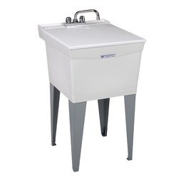 "Mustee 19CFT Utilatub Premier 20""W x 24""D Floor-Mount Laundry/Utility Tub Combo Pack"