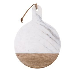IMAX 82514 Peyton Marble and Wood Cheese Board