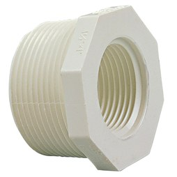 "Commodity PVC Pressure Fittings 439-212 Bushing PVC 1-1/2x1-1/4"" MPTxFPT S40 439-212"
