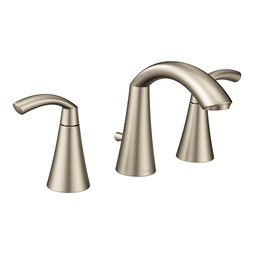 Moen T6173BN Glyde Two-Handle Widespread Bathroom Faucet with Pop-Up Drain