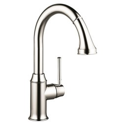 Hansgrohe 04215830 Talis C Single Handle Pull Down Kitchen Faucet with Dual Spray