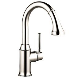 Hansgrohe 04216830 Talis C Single Handle Pull Down Prep Faucet with Dual Spray