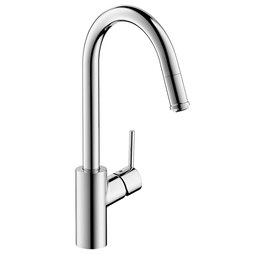 Hansgrohe 14872001 Talis S Single Handle High Arc Pull Down Kitchen Faucet