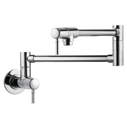 Hansgrohe 04218000 Talis C Two Handle Wall Mount Pot Filler Faucet