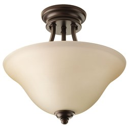 Progress P3414-20 Spirit Two-Light Semi-Flush Mount Ceiling Light