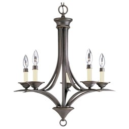 Progress P4327-20 Trinity Five-Light Chandelier