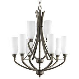 Progress P4439-20 Wisten Nine-Light, Two-Tier Chandelier