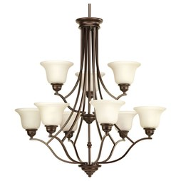 Progress P4611-20 Spirit Nine-Light, Two-Tier Chandelier