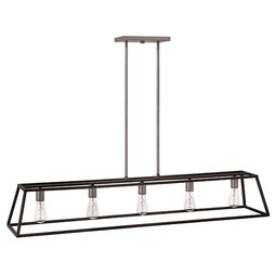 Hinkley 3335DZ Fulton Five-Light Linear Downlight Chandelier