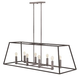 Hinkley 3338DZ Fulton Eight-Light Stem-Hung Linear Chandelier