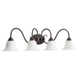 Quorum 5110-4-186 Bath Light Spencer Vanity 4 Lamp Oiled Bronze Satin Opal Medium 100W