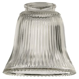 "Quorum 2291 Shade Ribbed Bell 4-1/2x4-3/4"" Clear Glass"