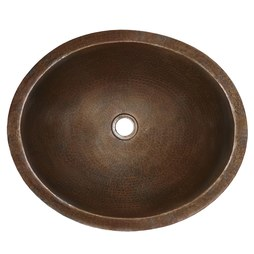 "Native Trails CPS268 Classic 19"" Oval Copper Undermount Bathroom Sink"
