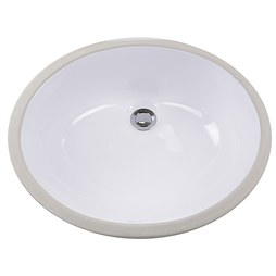 "Nantucket GB-15X12-W Great Point 17-1/8"" Oval Undermount Bathroom Sink"