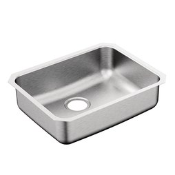 "Moen G18192B 1800 Series 23"" Single Bowl Stainless Steel Undermount Kitchen Sink"
