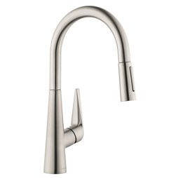 Hansgrohe 72813801 Talis S Single Handle High Arc Pull Down Kitchen Faucet