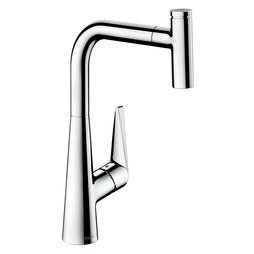 Hansgrohe 72821001 Talis Select S Single Handle High Arc Pull Out Kitchen Faucet