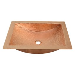 "Native Trails CPS445 Avila 21"" Rectangular Copper Undermount Bathroom Sink"
