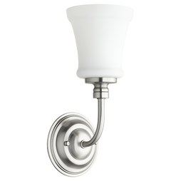 Quorum 5522-1-65 Sconce Rossington 1 Lamp Satin Nickel Satin Opal Medium 100W