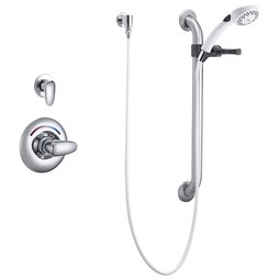 Delta T13H302-25 Commercial Monitor 13H Series Pressure Balance Handshower Trim with Slide/Grab Bar