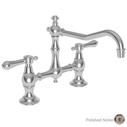 Newport Brass 9461/15 Chesterfield Two Handle Kitchen Bridge Faucet without Side Sprayer