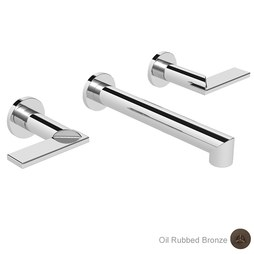 Newport Brass 3-2491/10B Keaton Two Handle Wall-Mount Bathroom Faucet