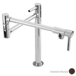 Newport Brass 9486/VB East Linear Two Handle Deck-Mount Pot Filler with Lever Handles