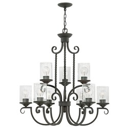 Hinkley 4018OL-CL Casa Nine-Light Two-Tier Chandelier
