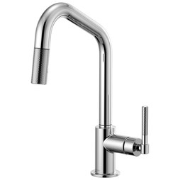 Brizo 63063LF-PC Litze Single Handle Pull Down Faucet with Angled Spout/Knurled Handle