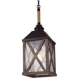 Feiss F2956/1DWO/ORB Lumiere Single-Light Chandelier