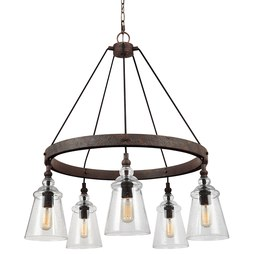 Feiss F3169/5DWI Loras Five-Light Chandelier