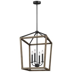 Feiss F3191/4WOW/AF Gannet Four-Light Chandelier